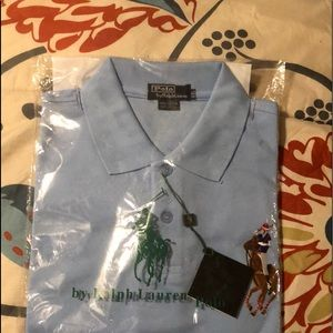 Polo ss Shirt by Ralph Lauren, size XXL.Lt Blue NU